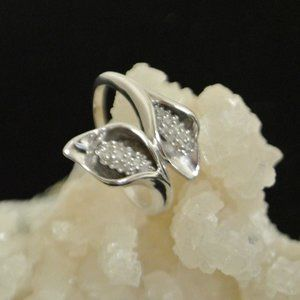Sterling Silver Double Calla Lily Ring